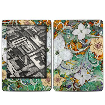 Amazon Kindle 2014 Skin - Sangria Flora