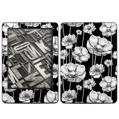 Amazon Kindle 2014 Skin - Striped Blooms