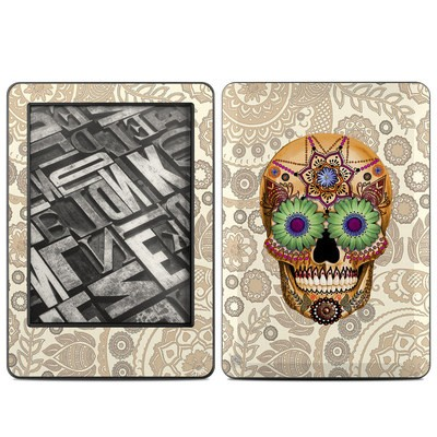 Amazon Kindle 2014 Skin - Sugar Skull Bone