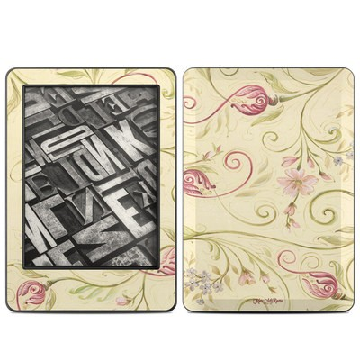 Amazon Kindle 2014 Skin - Tulip Scroll