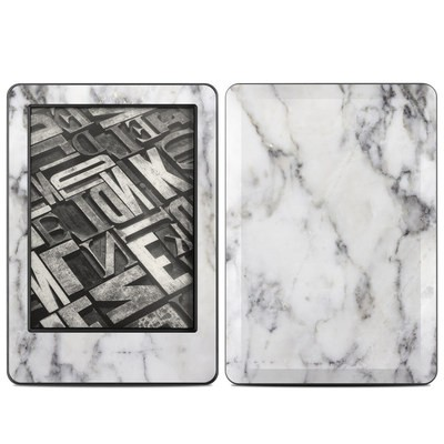 Amazon Kindle 2014 Skin - White Marble