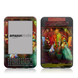 Kindle Keyboard Skin - A Mad Tea Party