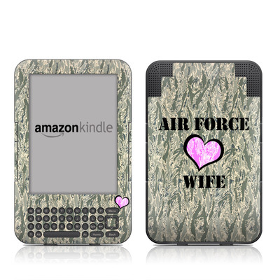 Kindle Keyboard Skin - Air Force Wife