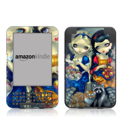 Kindle Keyboard Skin - Alice & Snow White