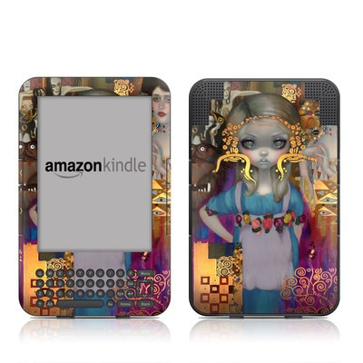 Kindle Keyboard Skin - Alice in a Klimt Dream