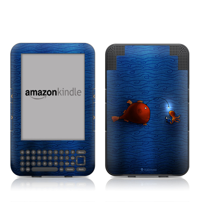 Kindle Keyboard Skin - Angler Fish