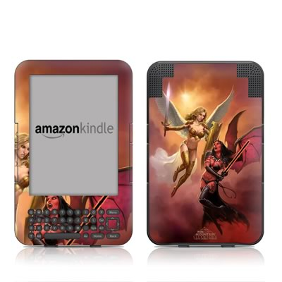 Kindle Keyboard Skin - Angel vs Demon