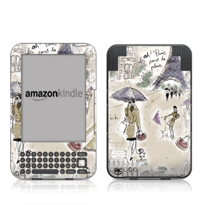 Kindle Keyboard Skin - Ah Paris