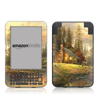 Kindle Keyboard Skin - A Peaceful Retreat
