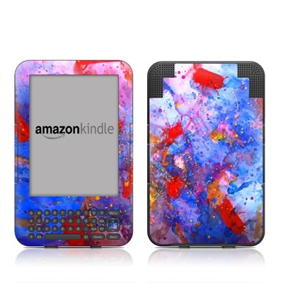 Kindle Keyboard Skin - Aqua-ese