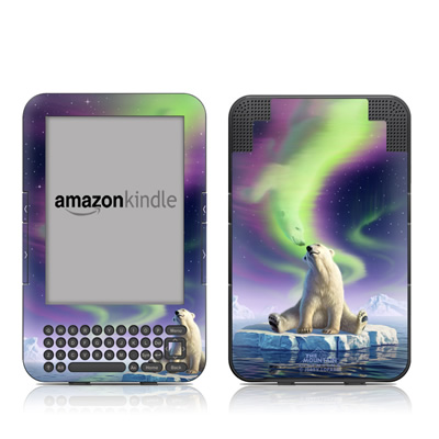Kindle Keyboard Skin - Arctic Kiss