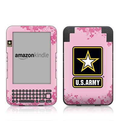Kindle Keyboard Skin - Army Pink