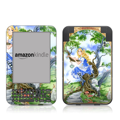 Kindle Keyboard Skin - Alice's Tea Time