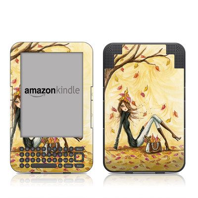 Kindle Keyboard Skin - Autumn Leaves