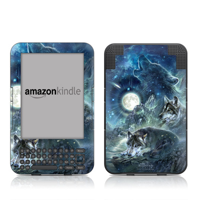 Kindle Keyboard Skin - Bark At The Moon