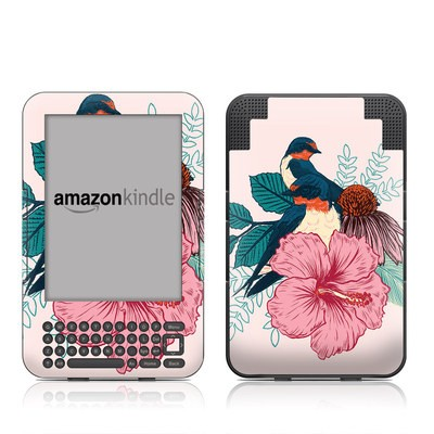 Kindle Keyboard Skin - Barn Swallows