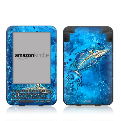 Kindle Keyboard Skin - Barracuda Bones