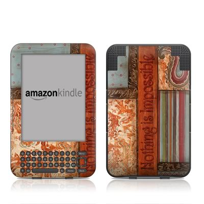 Kindle Keyboard Skin - Be Inspired