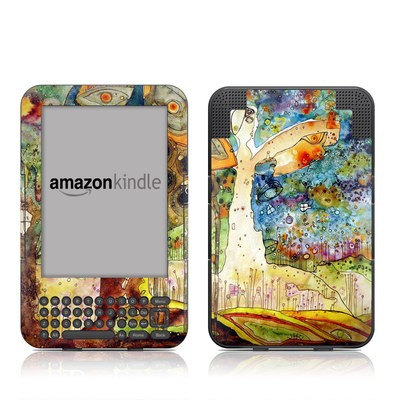 Kindle Keyboard Skin - Blue Hello