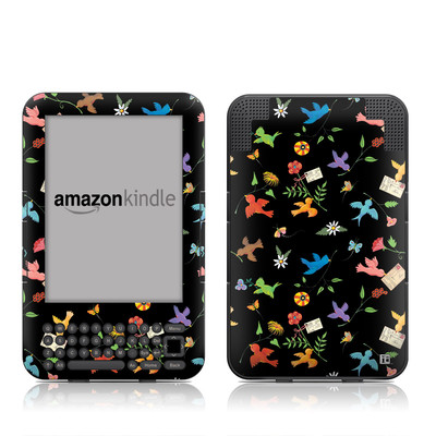 Kindle Keyboard Skin - Birds
