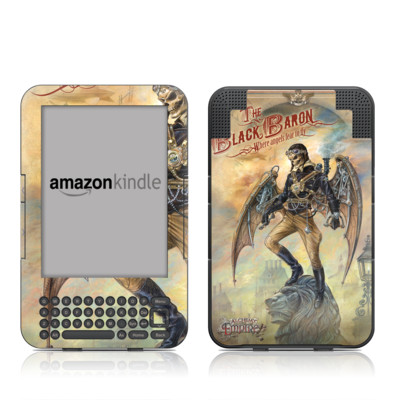 Kindle Keyboard Skin - The Black Baron