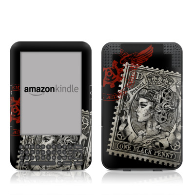 Kindle Keyboard Skin - Black Penny