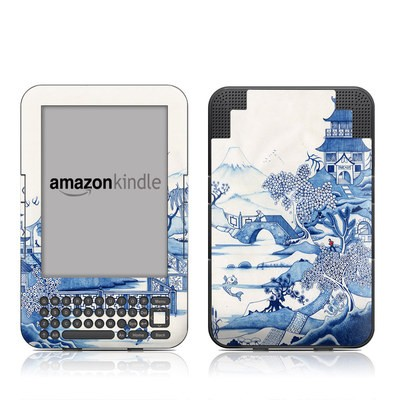Kindle Keyboard Skin - Blue Willow