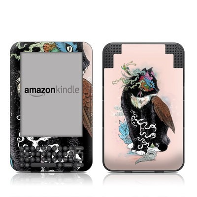 Kindle Keyboard Skin - Black Magic