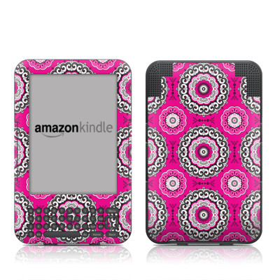 Kindle Keyboard Skin - Boho Girl Medallions