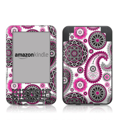 Kindle Keyboard Skin - Boho Girl Paisley