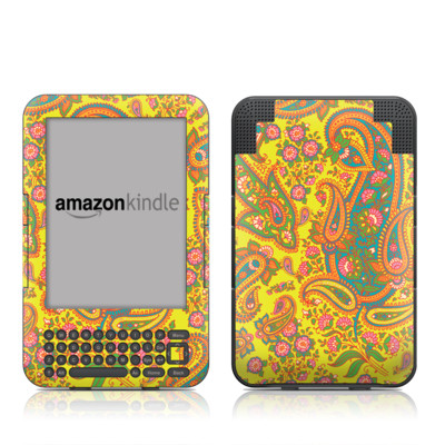 Kindle Keyboard Skin - Bombay Chartreuse