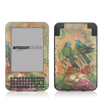 Kindle Keyboard Skin - Splendid Botanical