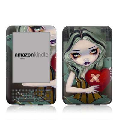 Kindle Keyboard Skin - Broken Heart