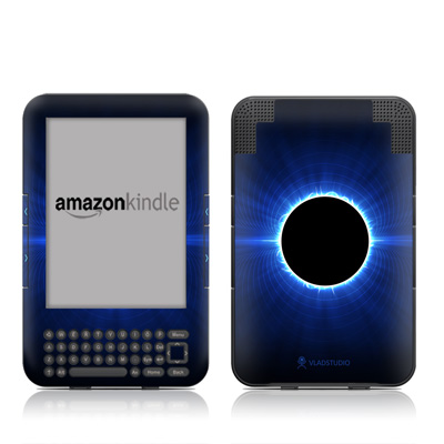 Kindle Keyboard Skin - Blue Star Eclipse