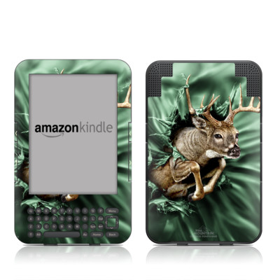 Kindle Keyboard Skin - Break Through Deer