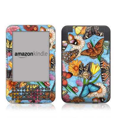 Kindle Keyboard Skin - Butterfly Land