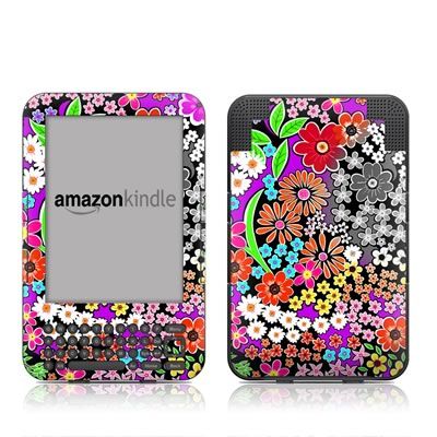 Kindle Keyboard Skin - A Burst of Color