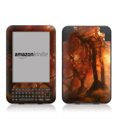 Kindle Keyboard Skin - Canopy Creek Autumn
