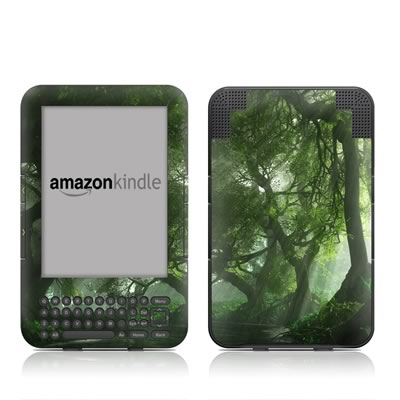 Kindle Keyboard Skin - Canopy Creek Spring