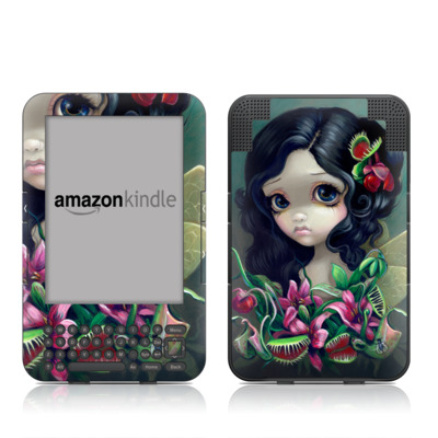 Kindle Keyboard Skin - Carnivorous Bouquet