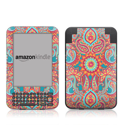 Kindle Keyboard Skin - Carnival Paisley