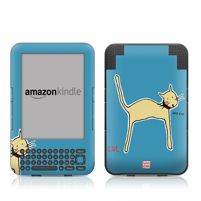Kindle Keyboard Skin - Cat