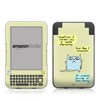 Kindle Keyboard Skin - Catwad Hate