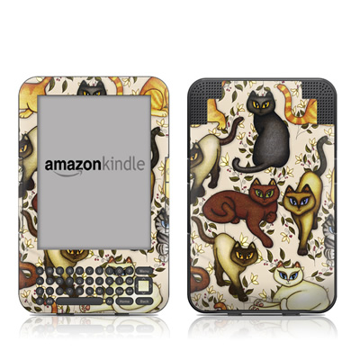 Kindle Keyboard Skin - Cats