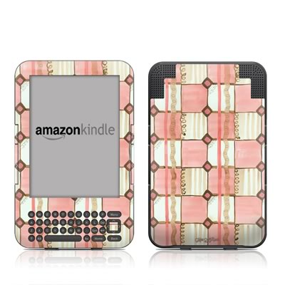 Kindle Keyboard Skin - Chic Check