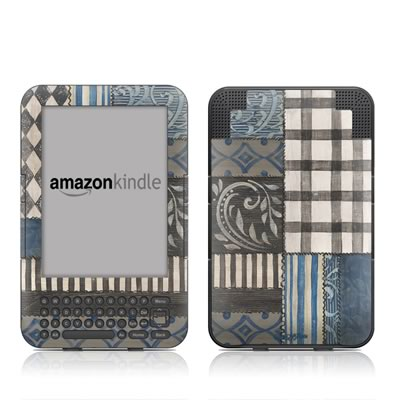 Kindle Keyboard Skin - Country Chic Blue