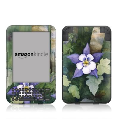 Kindle Keyboard Skin - Colorado Columbines