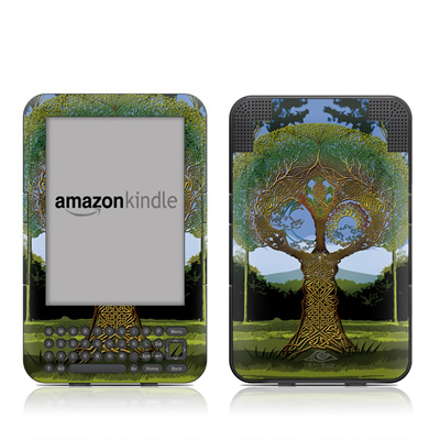 Kindle Keyboard Skin - Celtic Tree