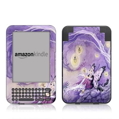 Kindle Keyboard Skin - Chasing Butterflies