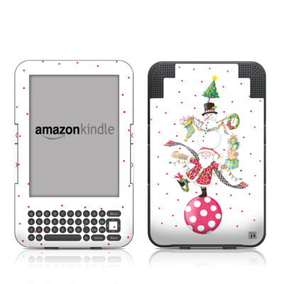 Kindle Keyboard Skin - Christmas Circus